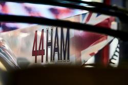Nueva marca de los pilotos en el coche de Lewis Hamilton, Mercedes AMG F1 W08