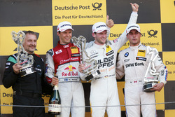 Podium: Racewinnaar Maro Engel, Mercedes-AMG Team HWA, Mercedes-AMG C63 DTM, tweede plaats Mattias Ekström, Audi Sport Team Abt Sportsline, Audi A5 DTM, derde plaats Bruno Spengler, BMW Team RBM, BMW M4 DTM