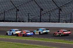 Spencer Gallagher, GMS Racing Chevrolet and Erik Jones, Joe Gibbs Racing Toyota