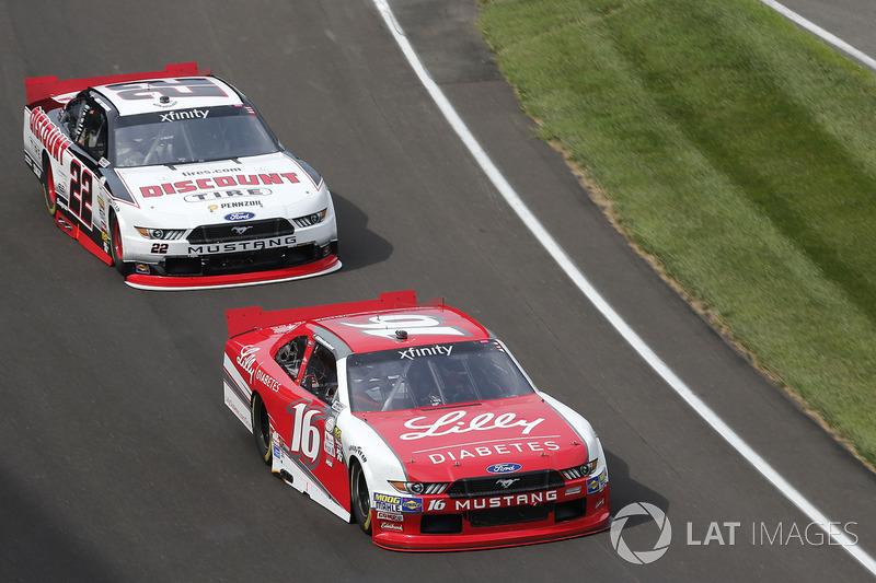 Ryan Reed, Roush Fenway Racing Ford Joey Logano, Team Penske Ford