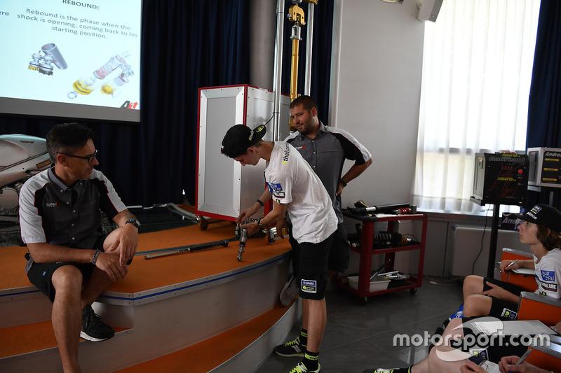Учасники четвертого Yamaha VR46 Master Camp в офісі Andreani Group, Микита Калінін