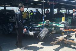 Unfallauto von J.R. Hildebrand, Ed Carpenter Racing, Chevrolet
