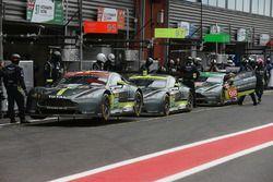 #95 Aston Martin Racing, Aston Martin Vantage, #97 Aston Martin Racing Aston Martin Vantage; #98 Ast