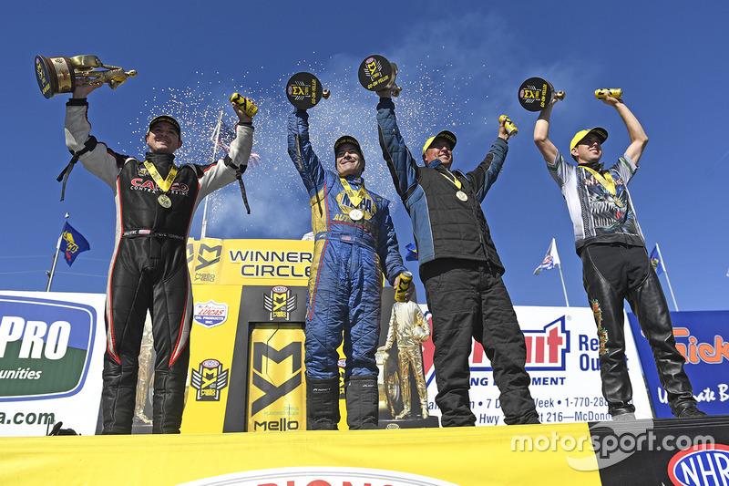 1. Top Fuel: Steve Torrence; 1. Funny Car: Ron Capps; 1. Pro Stock: Bo Butner; 1. Pro Stock Bike: LE