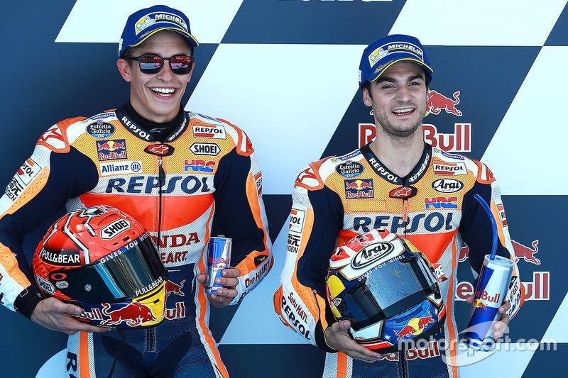 Polesitter Dani Pedrosa, Repsol Honda Team, second place Marc Marquez, Repsol Honda Team