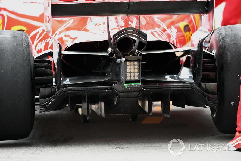 Ferrari SF70H arka kanat detay