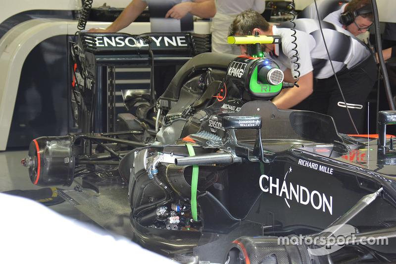 La voiture de Jenson Button, McLaren MP4-31
