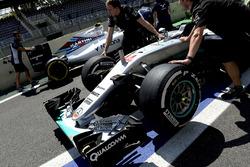 Cars of Lewis Hamilton, Mercedes AMG F1 W07 Hybrid and Valtteri Bottas, Williams FW38