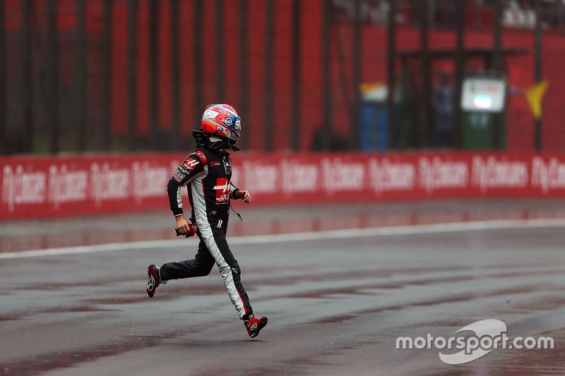 Abandon - Romain Grosjean (Haas F1)