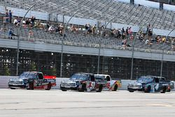 Kyle Busch, Kyle Busch Motorsports Toyota, Ben Rhodes, ThorSport Racing Toyota, Christopher Bell, Ky