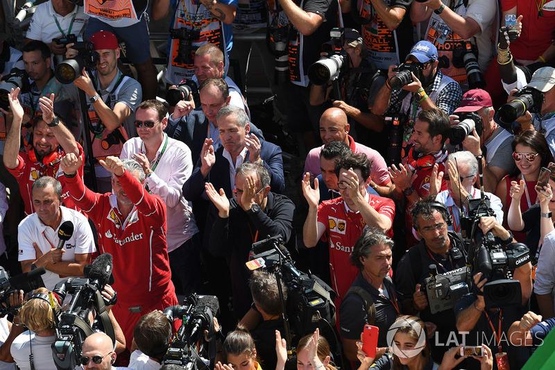 Maurizio Arrivabene, Ferrari Takım Patronu, Sergio Marchionne, CEO FIAT, Mattia Binotto, Ferrari Tek