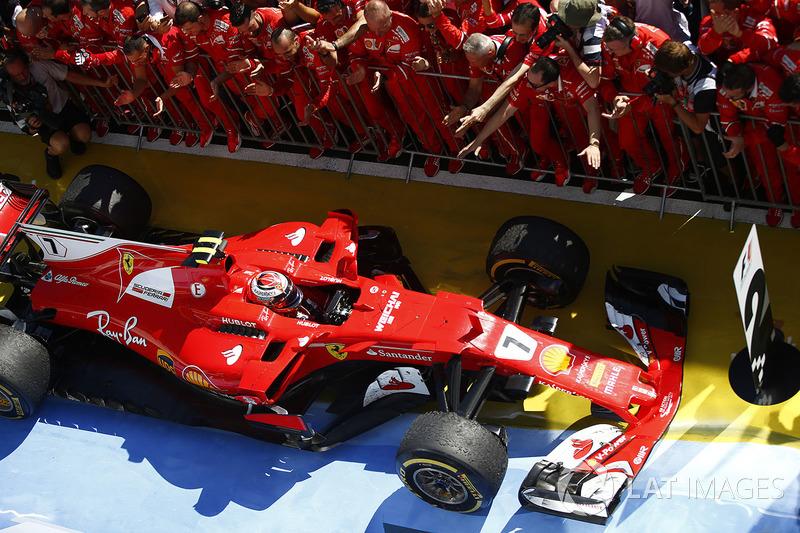 Kimi Raikkonen, Ferrari SF70H, segundo lugar