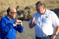Carmelo Ezpeleta, CEO Dorna Sports and Timo Pohjola, KymiRing Project Manager