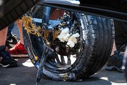La monoposto incidentata di Sébastien Buemi, Renault e.Dams
