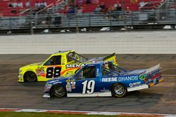 Austin Cindric, Brad Keselowski Racing Ford and Matt Crafton, ThorSport Racing Toyota