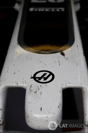 The nose of the Haas F1 Team Team VF-17