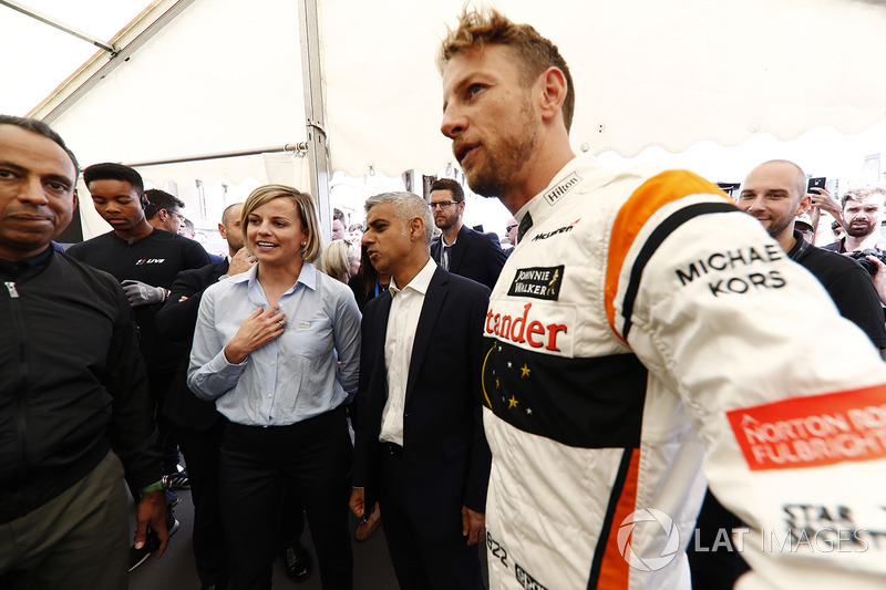Susie Wolff, Sadiq Khan, Mayor of London, Jenson Button, McLaren
