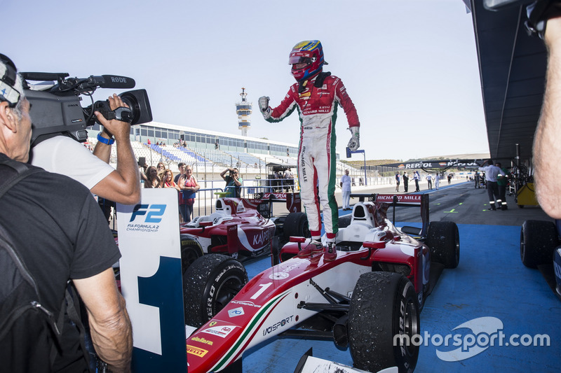 Charles Leclerc, PREMA Powerteam in parc ferme