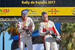 Podium : victoire pour Kris Meeke et Paul Nagle, Citroën C3 WRC, Citroën World Rally Team