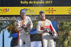 Podium : victoire pour Kris Meeke et Paul Nagle, Citroën C3 WRC, Citroën World Rally Team