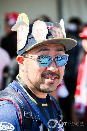 A fan of Max Verstappen, Red Bull
