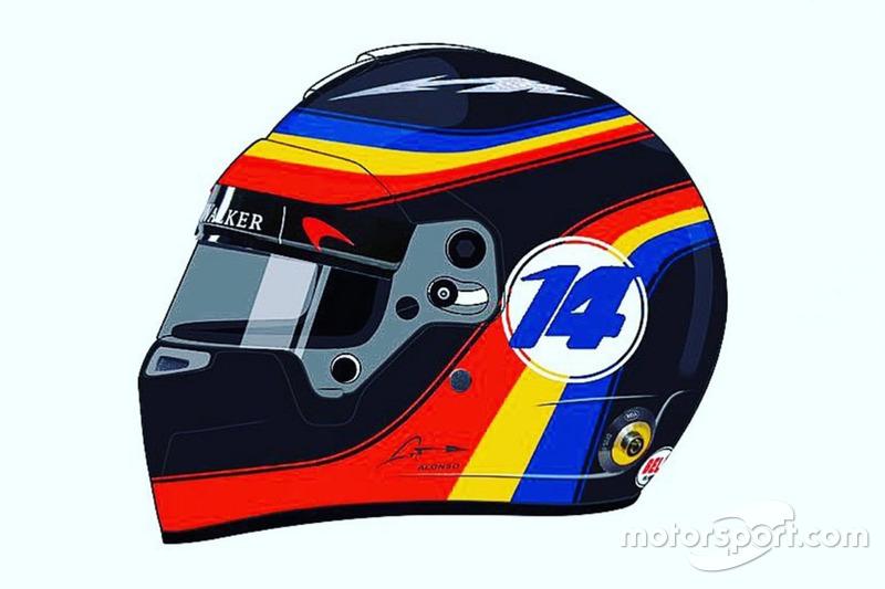 Fernando Alonso, McLaren casco