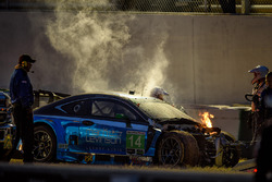 #14 3GT Racing Lexus RCF GT3: Sage Karam, Robert Alon, Ian James on fire