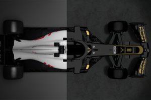 Comparativa entre el Haas VF-18 y el VF-19