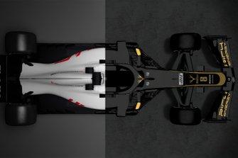 Vergelijking van de Haas VF-18 met de Haas VF-19