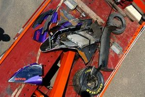 Debris from Roland Ratzenberger's Simtek S941 Ford after his fatal accident