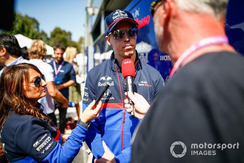 Daniil Kvyat, Toro Rosso talks to the press