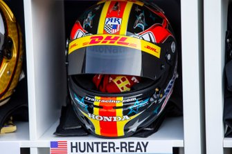 The helmet of Ryan Hunter-Reay
