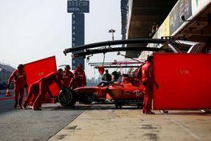 Charles Leclerc, Ferrari SF90 in the pitlane