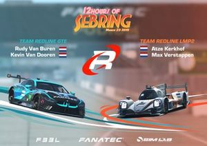 Line-up Team Redline voor de rFactor 2 12 Hours of Sebring