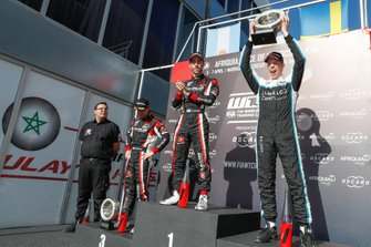 Podium: Race winner Esteban Guerrieri, ALL-INKL.COM Münnich Motorsport Honda Civic Type R TCR, second place Thed Björk, Cyan Racing Lynk & Co 03 TCR, third place Néstor Girolami, ALL-INKL.COM Münnich Motorsport Honda Civic Type R TCR