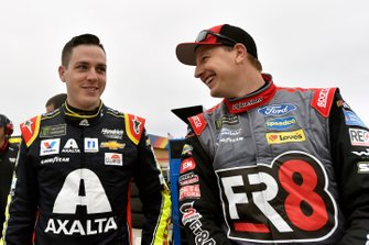 Alex Bowman, Hendrick Motorsports, Chevrolet Camaro Axalta and Michael McDowell, Front Row Motorsports, Ford Mustang FR8 Auctions
