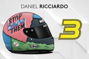 El casco 2019 de Daniel Ricciardo