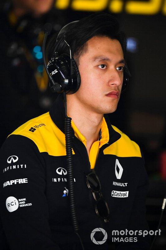 Guan Yu Zhou, Development Driver, Renault F1