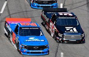 Stewart Friesen, Halmar Friesen Racing, Chevrolet Silverado Halmar International and Kyle Busch, Kyle Busch Motorsports, Toyota Tundra Cessna