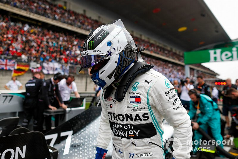 Valtteri Bottas, Mercedes AMG F1, on the grid
