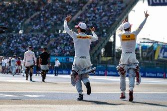 Daniel Abt, Audi Sport ABT Schaeffler, Audi e-tron FE05 en Lucas Di Grassi, Audi Sport ABT Schaeffler, Audi e-tron FE05
