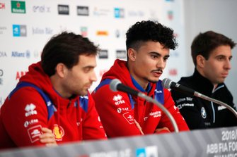 Pascal Wehrlein, Mahindra Racing in the press conference with Jérome d'Ambrosio, Mahindra Racing, Antonio Felix da Costa, BMW I Andretti Motorsports
