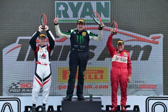 TA podium finishers Chris Dyson, Boris Said, and Cliff Ebben