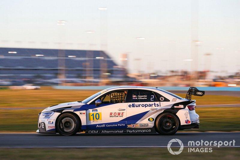 #10 eEuroparts.com ROWE Racing Audi RS3 LMS TCR, TCR: Lee Carpentier, Kieron O'Rourke