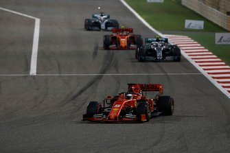 Sebastian Vettel, Ferrari SF90, Valtteri Bottas, Mercedes AMG W10, Charles Leclerc, Ferrari SF90, Lewis Hamilton, Mercedes AMG F1 W10