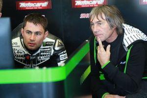 Leon Haslam, Kawasaki Racing, avec son père Ron Haslam