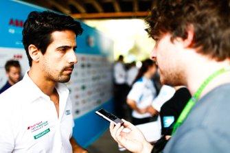 Lucas di Grassi, Audi Sport ABT Schaeffler talks to the press