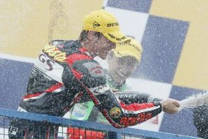 Álvaro Bautista celebrates
