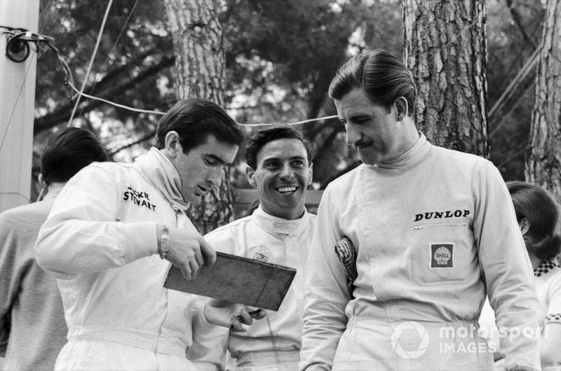 Jackie Stewart, Jim Clark and Graham Hill
