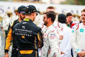 Jean-Eric Vergne, DS TECHEETAH, Andre Lotterer, DS TECHEETAH, Jose Maria Lopez, GEOX Dragon Racing on the grid
